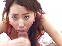 Geile Japanse verpleegster wil uw cum