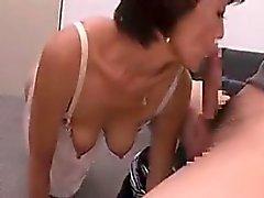 amateur asiático mamada masturbación