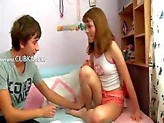 Russian schoolgirls enjoy sex