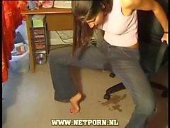 Lieben nassen Jeans