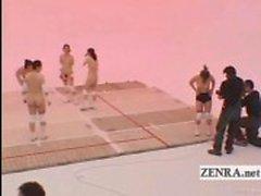 Legendado Nudismo Japão milfs vôlei e cum facial