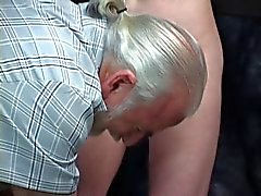 Pain loving babe shows off a puckering asshole