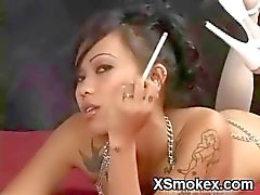 Crispy Smoking Gal Hungry Sex