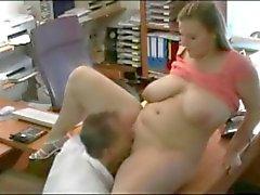 Fucking my horny Fat BBW Married Secretary at the office