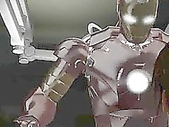Foxy 3D brunette getting fucked hard by Iron Man