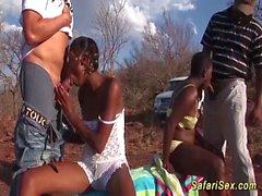 African Safari sex orgie i naturen segment