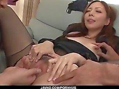 Trío duro de hardcore con Maki Mizusawa