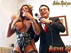 Pissing rite by Mistress Desideria Godiva introduced by Andrea Diprè