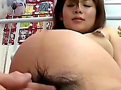 Hairy pregnant asians box rubbed closeup