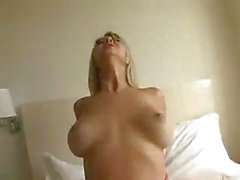 Ashlynn Brooke meets her dude in the hotel and fucks and sucks