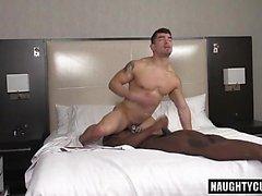 Big dick boy spanking and cumshot