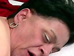 granny taking a cock in her pussy
