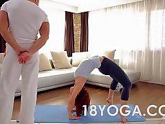 Yoga Tonårs Tina Hoad kvävdes Slap Analys creampied