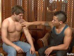 uomo sposato di Andrew blu dà pompino di scopata da omosessuale di Dante Escobar