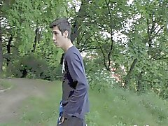 Handjob in openbare Park