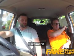 Fake Driving School Stora tuttar blondin knullas