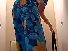 Gamla Form BBW - grannyen anser Cock på Toilette 2