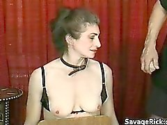 Kinky MILF is sex slave in weird bondage part1