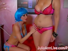 Sexy Space Bots Julia Ann ja Jessica Jaymes sakset!