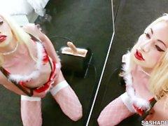 Sybian Orgasm for Sasha de Sade from Santa