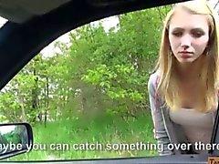 Pretty amateur teen girl Beatrix Glower jizzed on booty