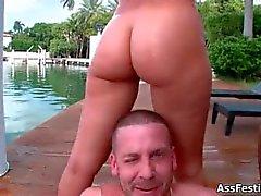 Three hot big ass babes love fucking