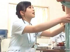 Enfermera sexy masajes corporales una polla en JPNNurse