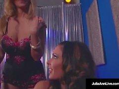 Dubbel BJ & Cum med het mamma Julia Ann & Jessica Jaymes!