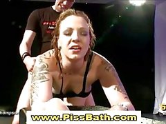 Fetish slut fucked and piss drenched