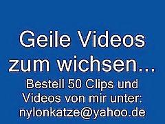 Duitse Handjob in Nylons und High Heels Stiefeln