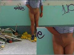 sukkahousut exibition abandonded sairaalassa