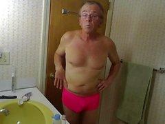 Sissy Robert Bryans daily massaging of his balls!!!