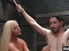 Holly Sweet fucks her slave boy