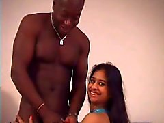 Skinny Indian babe and BBC