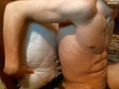 Ukrainian boy jerks off and cums web show