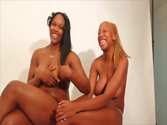 Crazy ebony lesbians extreme squirt fest incredible footage