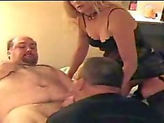 Fucking the wife and her fagot hubby