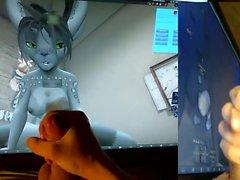 Furry vivo Cum Tribute (Second Life)