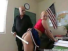 Big tited blonde cheerleader with pierced nipples gets