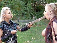 Lesbiana samurai Ashley Bulgari and Danielle Maye