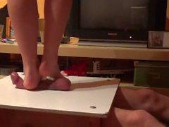 cock trampling massage under nices bare feet