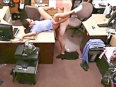Hot sexy brunette Nurse gets fucked hard