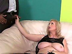 Monika Wipper sucks his black cock