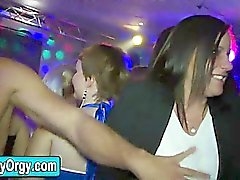 Amateur teens partying with strippers