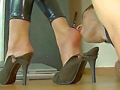 mujerzuela esmalte de del spandex brillo lamedura los pies catsuit de
