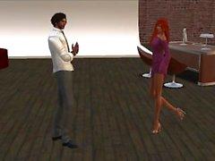 Koub qui invite en soiree sa petite amie Venicie en mini robe moulante