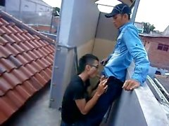 Indonesian Boys On The Rooftop
