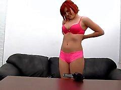 Redhead Natashia hot casting shoot