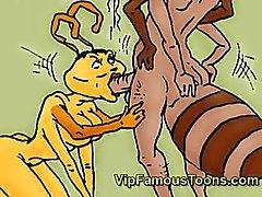 Beroemde striphelden Antz hardcore orgie