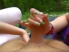 De la diversión con dos Amateur chicas